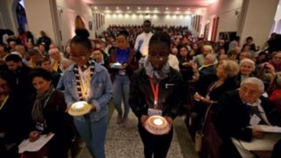 the beatification took place in Oran's Chapel of our Lady of Santa Cruz