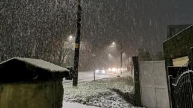 Snow on Hirwaun Road