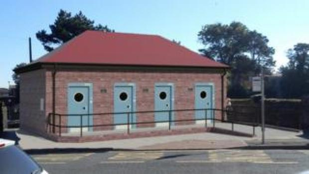 An artist impression of the new Griffin Park toilets in Porthcawl
