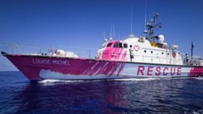 Louise Michel, Banksy refugee rescue boat