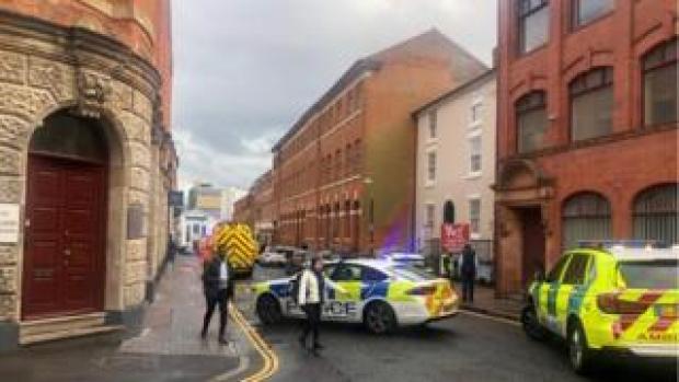 Emergency vehicles in Vittoria Street
