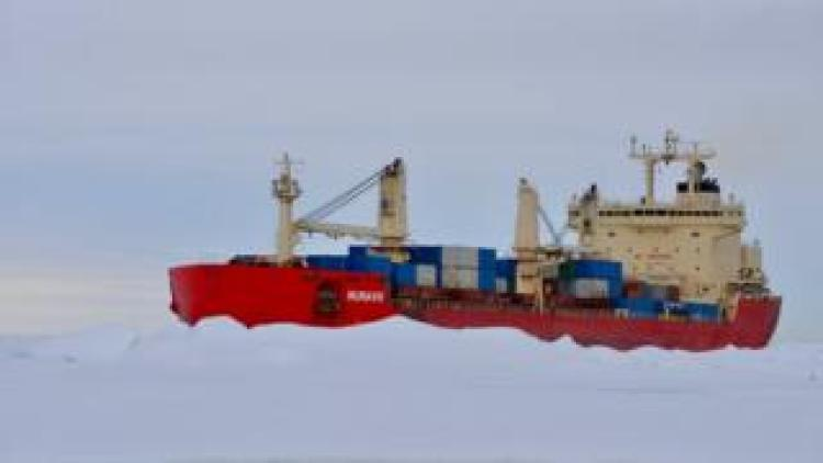 The Nunavik icebreaking vessel