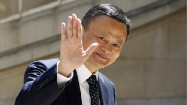 """Chairman of Alibaba Group Jack Ma arrives to attend the """"Tech for Good"""" Summit at """"Hotel de Marigny"""" on May 15, 2019 in Paris, France."""