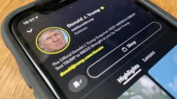 Trump on Snapchat