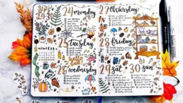 A page from a bullet journal. Sarah Raisedana, San Francisco