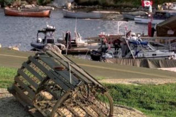 Lobster trap in a Nova Scotia harbour