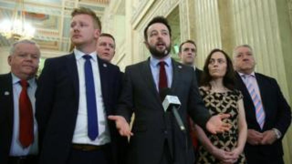COLUM EASTWOOD AND MEMBERS OF THE SDLP INCLUDING JOHN DALLAT, NICOLA MALLON, MARK H DURKAN AND daniel mcrossan