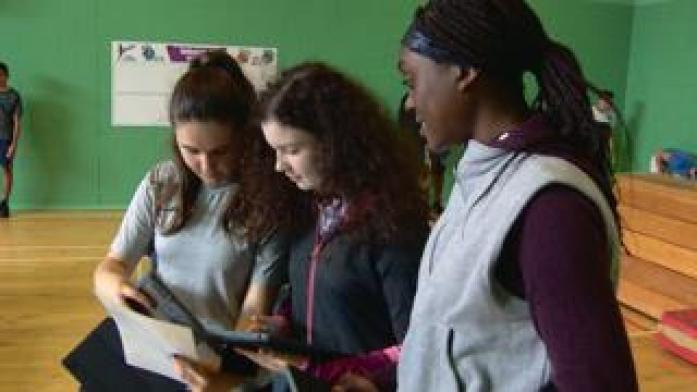 Tablets being used by pupils