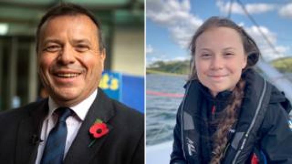 Arron Banks et Greta Thunberg