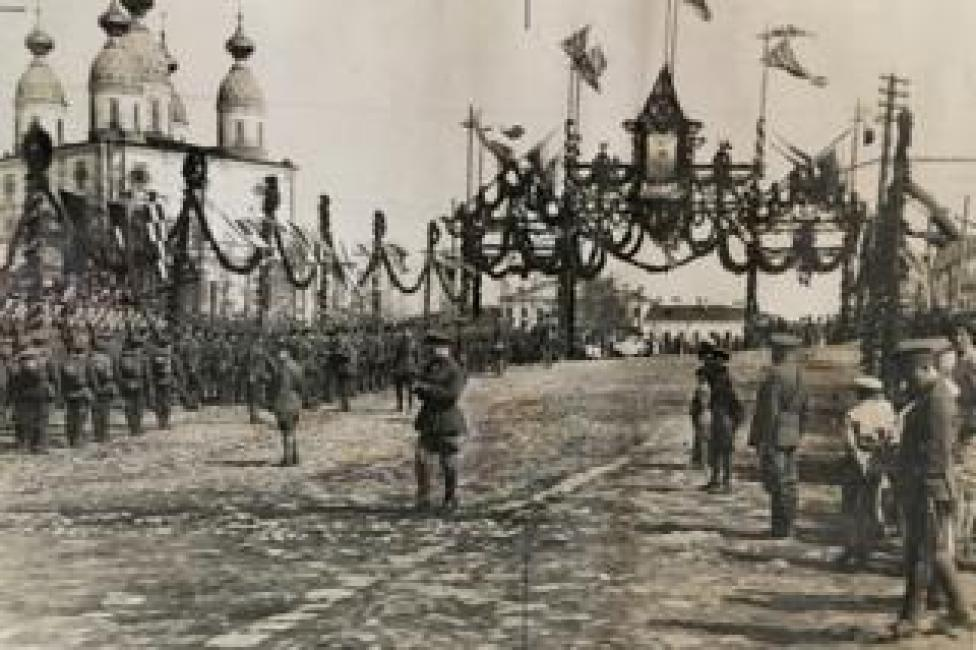 Tropas británicas y francesas en Arkhangelsk (Foto: Lord Ironside)