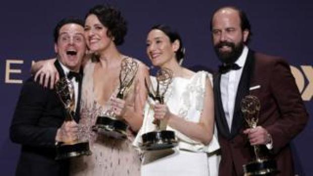 Left-right: Fleabag's Andrew Scott, Phoebe Waller-Bridge, Sian Clifford and Brett Gelman