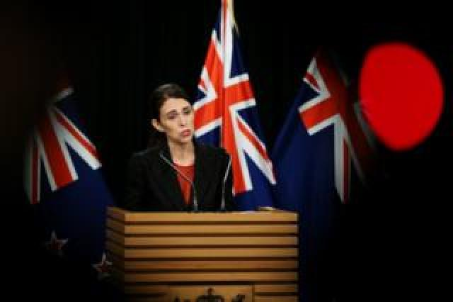 Prime Minister Jacinda Ardern speaks to media during a press conference in Wellington, New Zealand