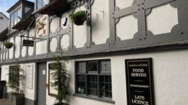The Crown and Anchor in Stone