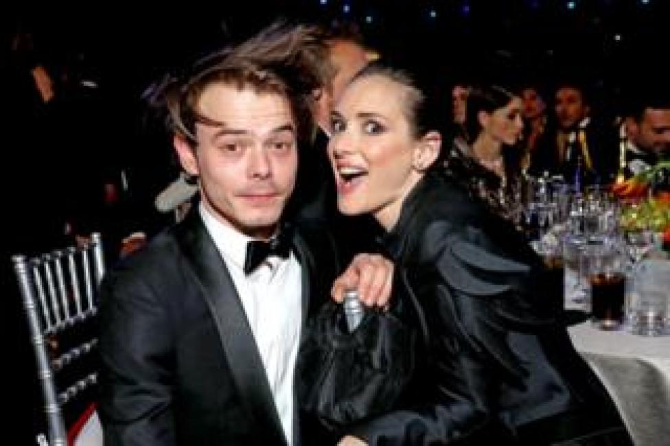 Actor Charlie Heaton and Winona Ryder