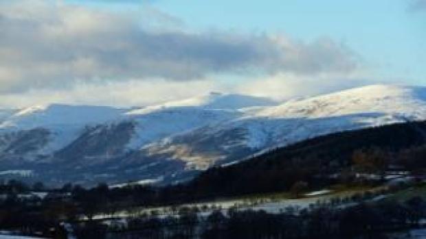 Snow on hills