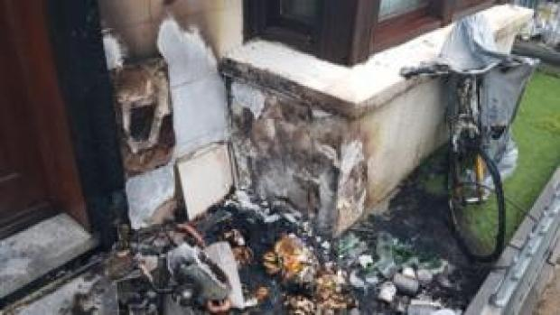 The home burnt out at the door