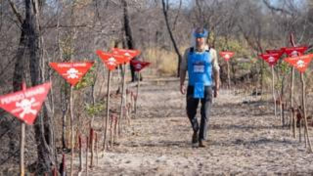 The Duke of Sussex walks through a minefield