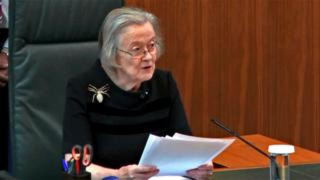 Lady Hale speaking
