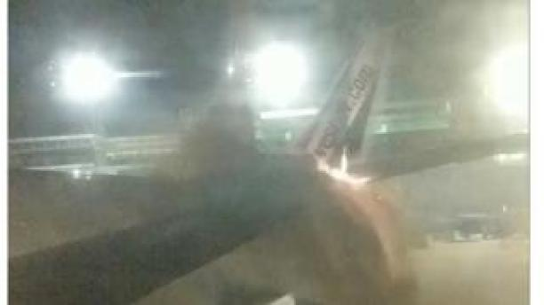 Passenger photograph reveals hearth on Sunwing plane's tail