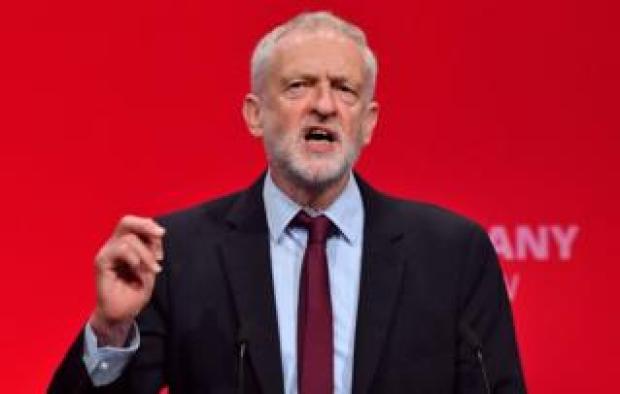 Jeremy Corbyn giving a speech