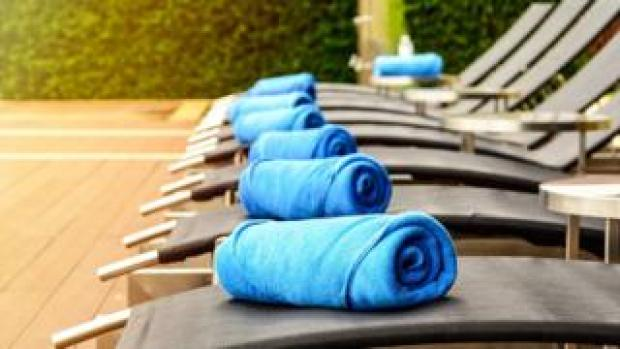 Generic image showing towels on sunloungers
