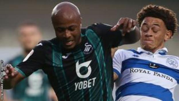 André Ayew in action against QPR