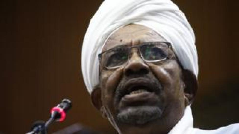 Sudanese President Omar al-Bashir addresses parliament in the capital Khartoum on 1 April 2019, in his first such speech after imposing a national state of emergency across on 22 February.