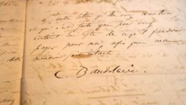 Baudelaire letter sold at auction, 4 November