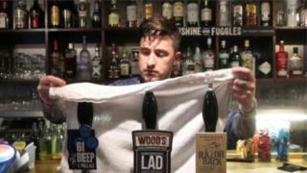 A bar worker