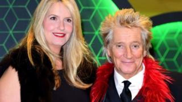 Sir Rod Stewart and wife Penny Lancaster