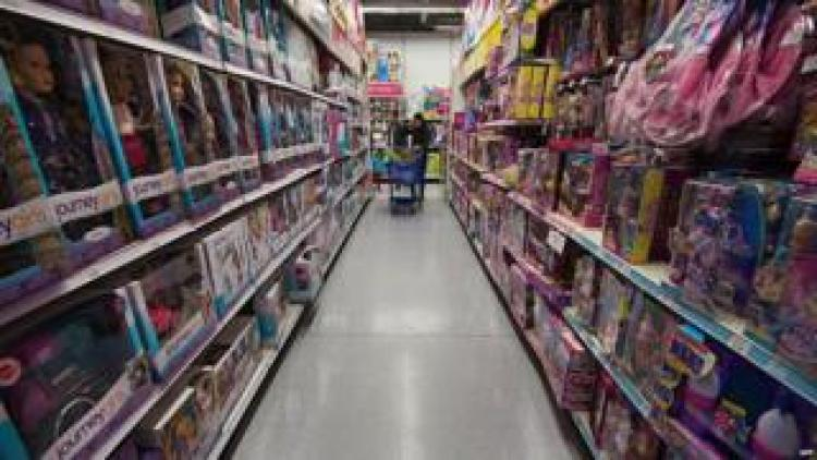 A toy store aisle