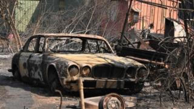 burned out jaguar