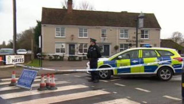 Police at murder scene in Little Clacton