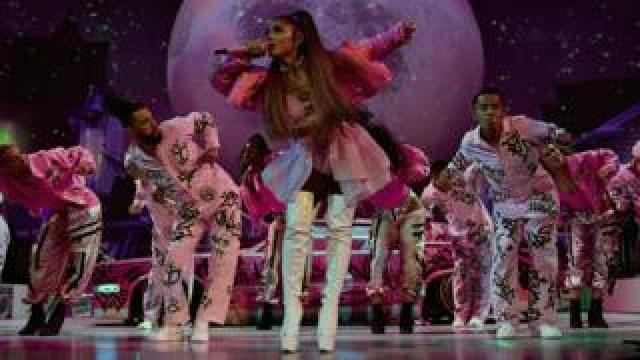 Arian Grande on stage in London