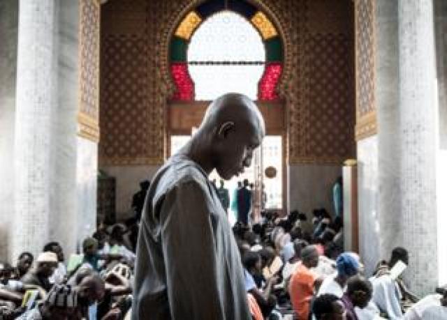 A worshipper at a mosque in Dakar, Senegal - Wednesday 4 March 2020