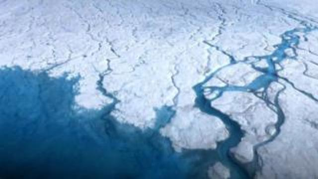 Meltwater from on top of the Greenland Ice Sheet can make its way to the bed