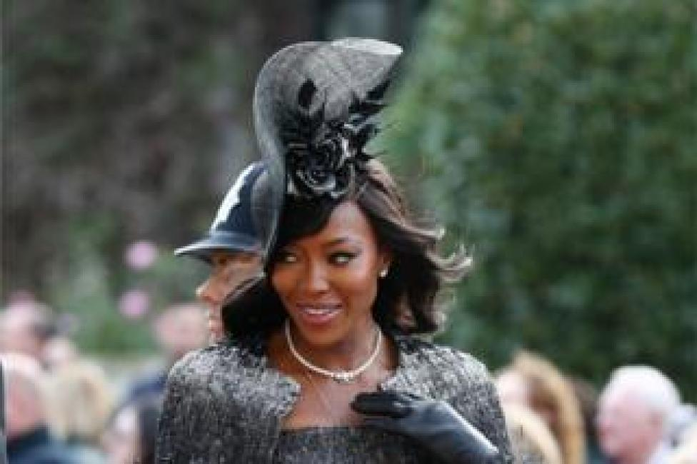 NEWS Naomi Campbell arrives ahead of the wedding of Princess Eugenie to Jack Brooksbank at St George's Chapel in Windsor Castle