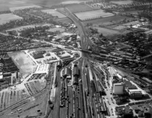 Cambridge railway station on the morning of 28 March 1959