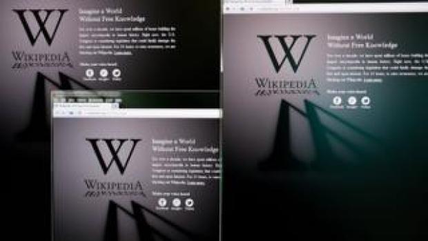 Screenshot of Wikipedia add