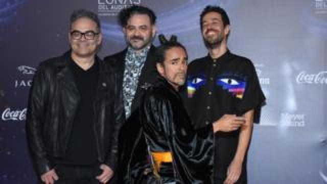 Mexican rock band Café Tacvba at the Lunas del Auditorio award ceremony in October 2018