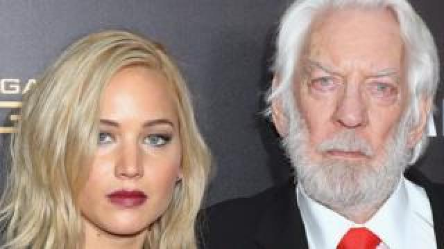 Jennifer Lawrence and Donald Sutherland