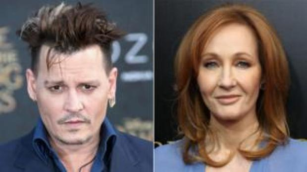 Johnny Depp and JK Rowling