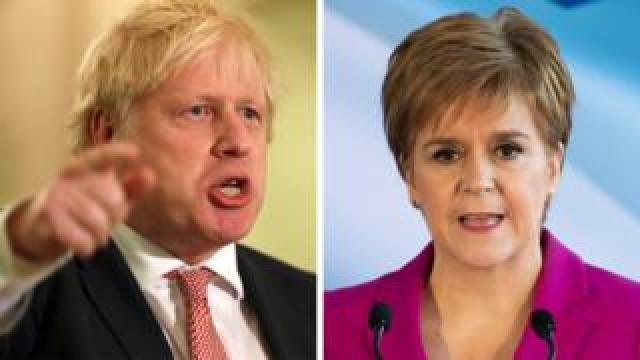 Boris Johnson and Nicola Sturgeon