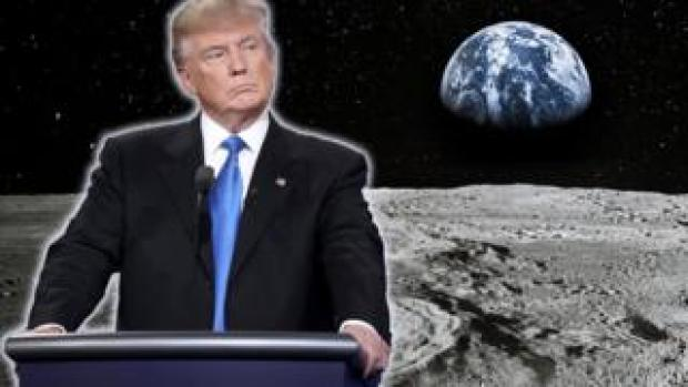 Donald Trump on the moon