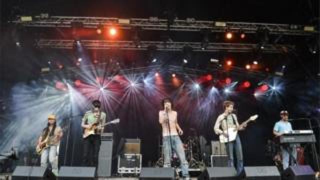 Fat White Family performing at Glastonbury 2015