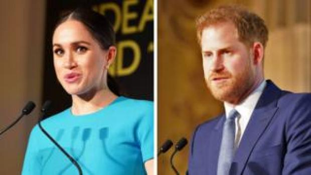 The Duke and Duchess of Sussex speak during the annual Endeavour Fund Awards in London