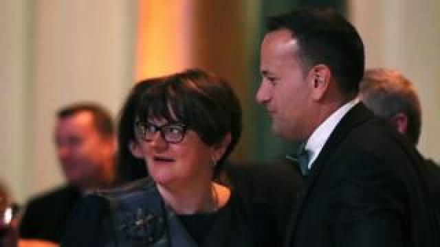 Arlene Foster and Leo Varadkar at the same event in Washington DC on Wednesday night