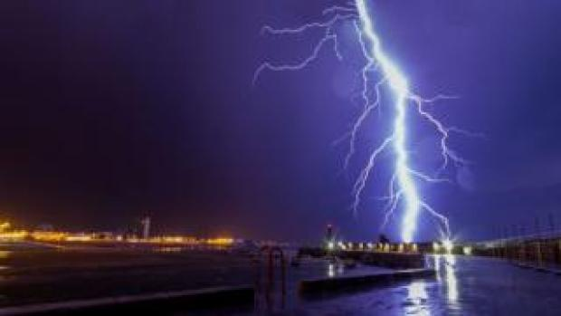 Lightning over Margate