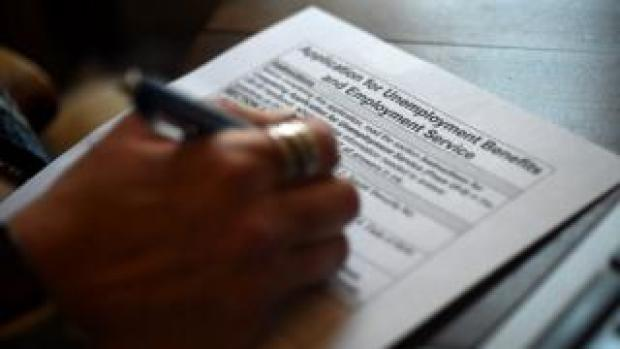 a person completes an unemployment application