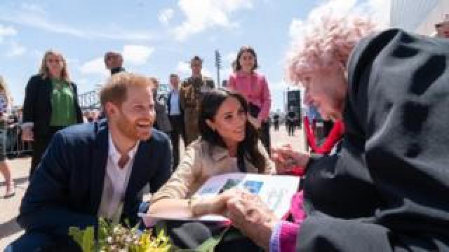 Prince Harry, Meghan Markle and Daphne Dunne